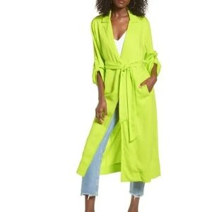 AFRM Neon Green Hendrix Duster Size XS